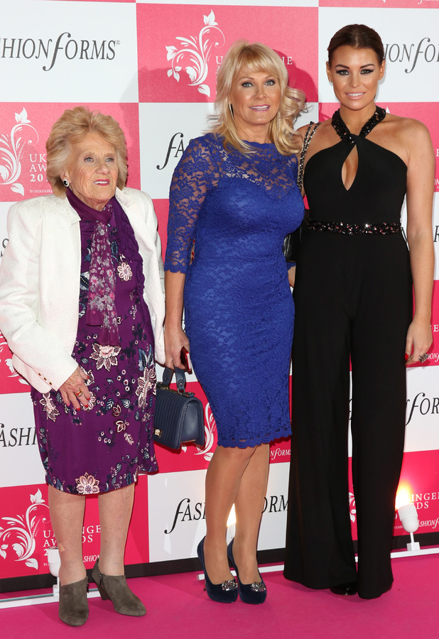 Jessica Wright, Carol Wright, Nanny Pat - the UK Lingerie Awards 2013 held at Freemason's Hall in London - 4 December 2013