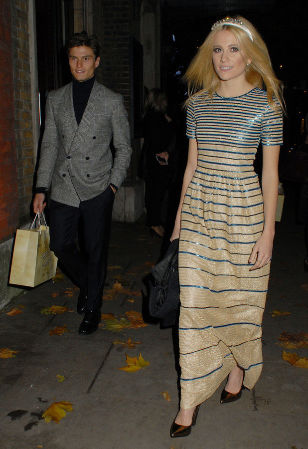 Pixie Lott and Oliver Cheshire attend The Fayre of St James and St James' Church in London - 5 December 2013