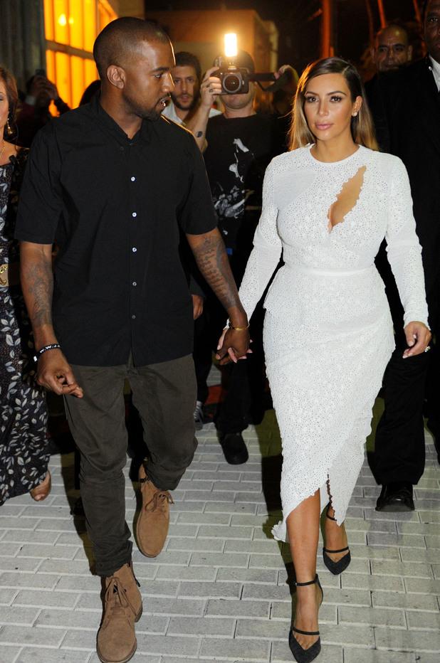 Surface Magazine event, Miami, America - 04 Dec 2013 Kanye West, Kim Kardashian
