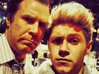 1D's Niall Horan meets Anchorman stars Will Ferrell and Paul Rudd