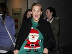 X Factor's Sam Bailey stays cosy in Santa Christmas jumper - photo