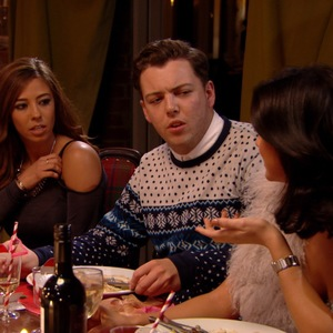 Pascal Craymer eats dinner with Tom Pearce and James 'Diags' Bennewith in TOWIE's festive episode, The Only Way Is Essexmas.