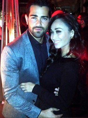 Jesse Metcalfe celebrates birthday with fiancee Cara Santana. (9 December 2013).