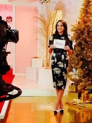 Lydia Bright presents fashion on This Morning in London - 10 December 2013