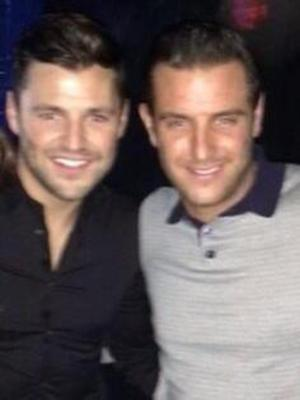 Mark and Elliott Wright pose for a picture together - 13 December 2013