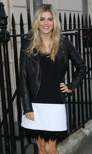 Celebrities arriving at the Savile Club for Lydia Rose Bright's Spring/Summer Collection - Ashley James - 11.12.2013