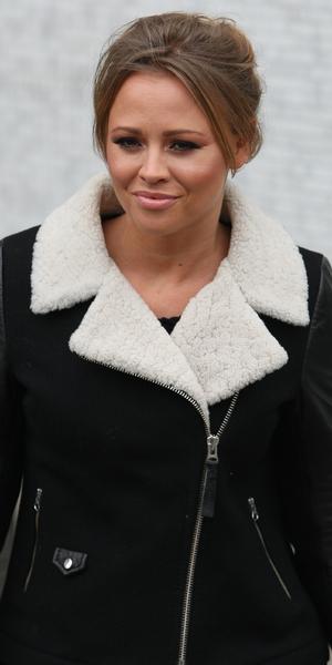 Kimberley Walsh outside the ITV Studios in London - 5 December 2013