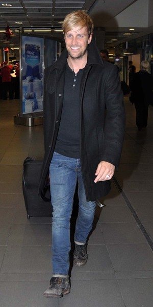 I'm A Celebrity... Get Me Out Of Here!'s newly-crowned King of The Jungle, Kian Egan, arrives back home to Ireland at Dublin airport, 14 December