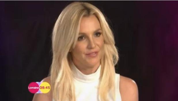 Britney Spears appears on ITV1's Lorraine - 9 December 2013