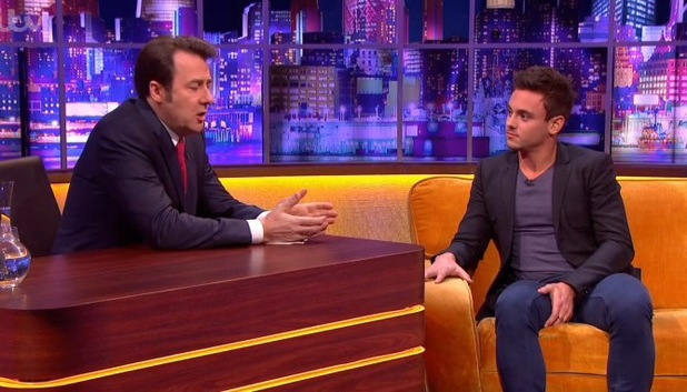 Tom Daley appears on The Jonathan Ross show - 7.12.2013