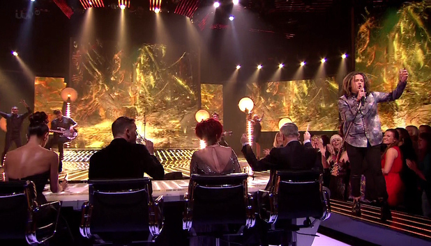 The X Factor Luke Friend performs during 'Beyonce Vs Elton John' week on 'The X Factor', Shown on ITV1 HD 12/10/2013
