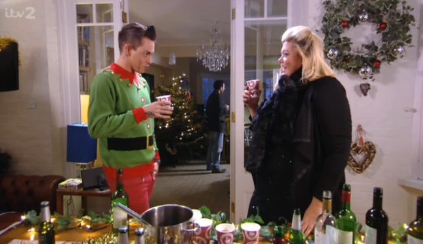 TOWIE's Bobby Norris and Gemma Collins row in The Only Way Is Essexmas - 11 December 2013