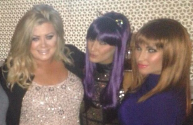 Gemma Collins shares pic of Minnies Boutique Christmas party, where wigs were compulsory! 13 December 2013.