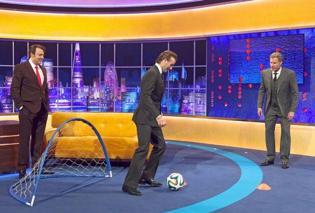 'The Jonathan Ross Show' TV Programme, London, Britain - 14 Dec 2013 Jonathan Ross, David Beckham and Will Ferrell