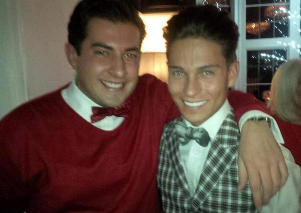 Joey Esssex and James 'Arg' Argent at Joey's welcome home party. 12 December.