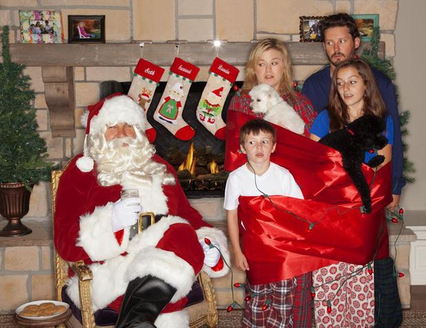Kelly Clarkson shares family Christmas card with husband Brandon Blackstock.