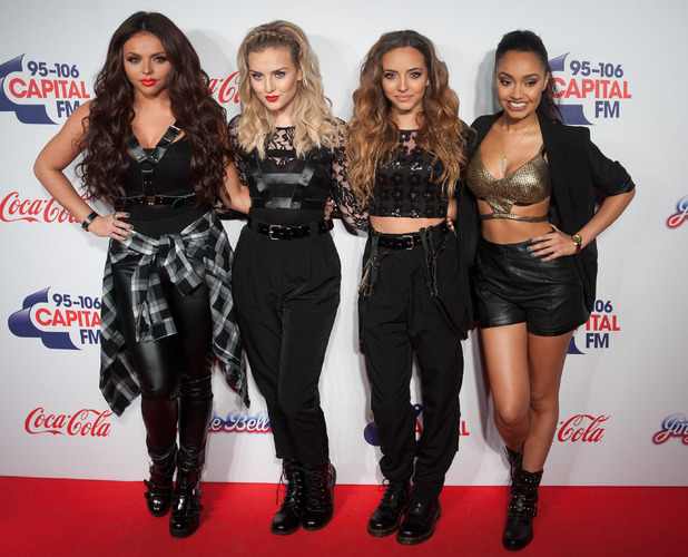 Little Mix's Perrie Edwards, Jesy Nelson, Leigh-Anne Pinnock, Jade Thirlwall at the Capital FM Jingle Bell Ball - 8 December 2013