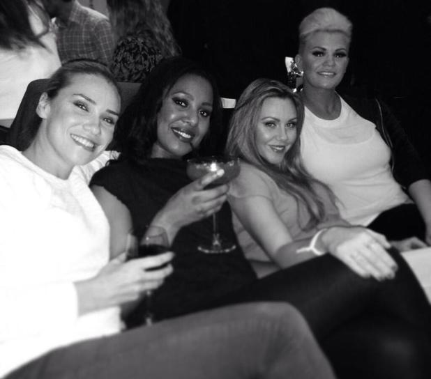 Kerry Katona and Michelle Heaton relax with Liberty X's Jessica Taylor and Kelli Young - 12 December 2013