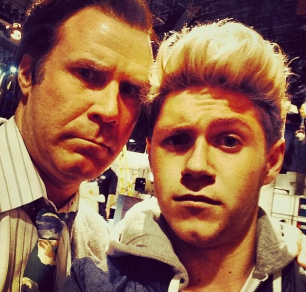 One Direction's Niall Horan meets cast of Anchorman: Paul Rudd, Will Ferrell and David Koechner - 7.12.2013