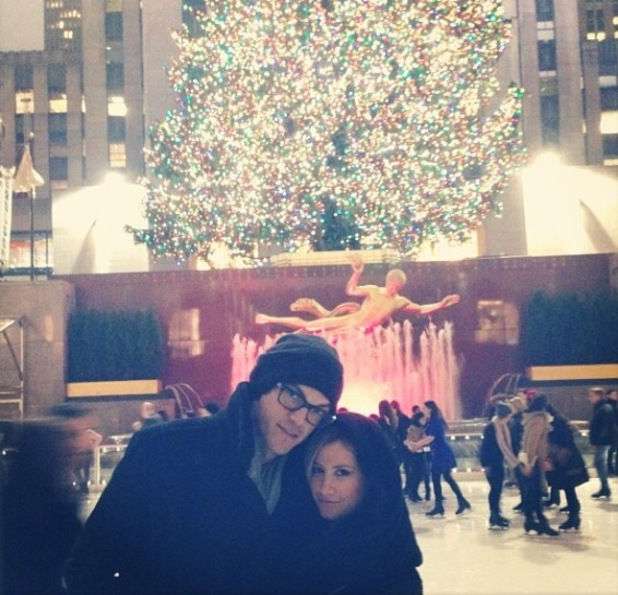 Ashley Tisdale and fiancé Christopher French out in New York ice skating - Dec 2013