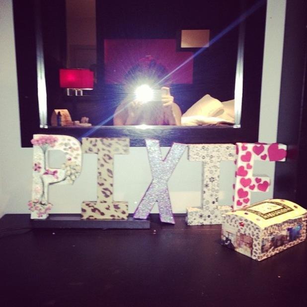 Pixie Lott posts an Instagram snap at Key 103's Jingleball Live in Manchester - 12 December 2013