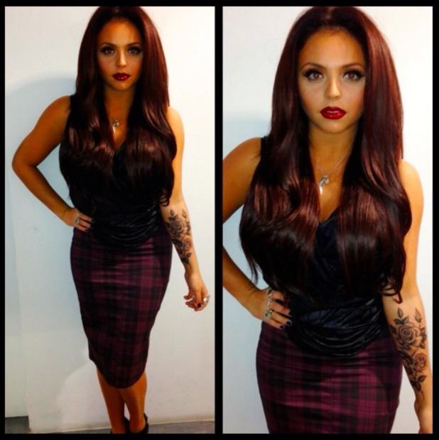 Little Mix's Jesy Nelson unveils new rose tattoo on Twitter, 15 December 2013