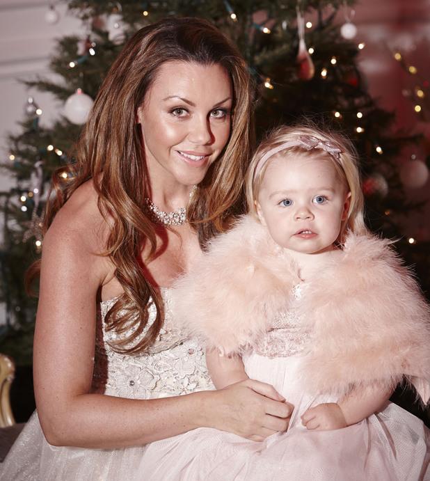 Michelle Heaton and Faith at Christmas