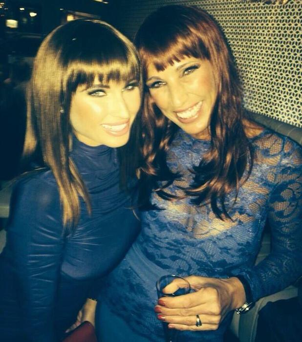 Bille Faiers shares pic of her mum at their Christmas party, where wigs were compulsory! 13 December 2013.