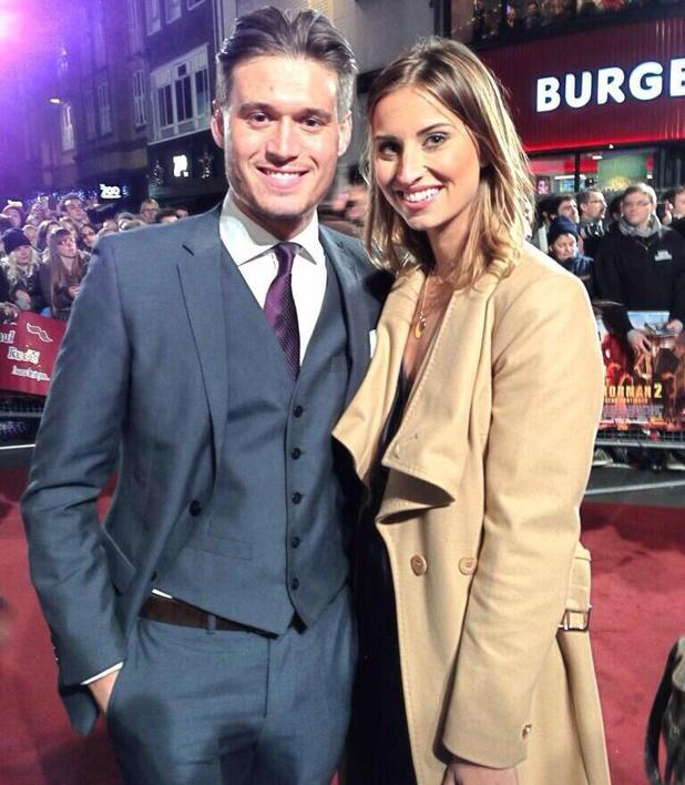 TOWIE's Charlie Sims and Ferne McCann attend Anchorman 2 premiere before having dinner together - 11 December 2013