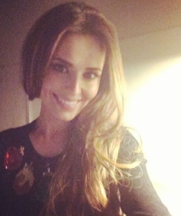 Cheryl Cole pictured in Markus Lupfer Christmas jumper - 11 December 2013