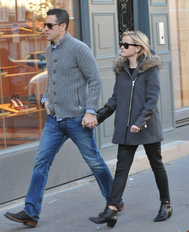 Reese Witherspoon and Jim Toth out and about in Paris, France - 09 Dec 2013