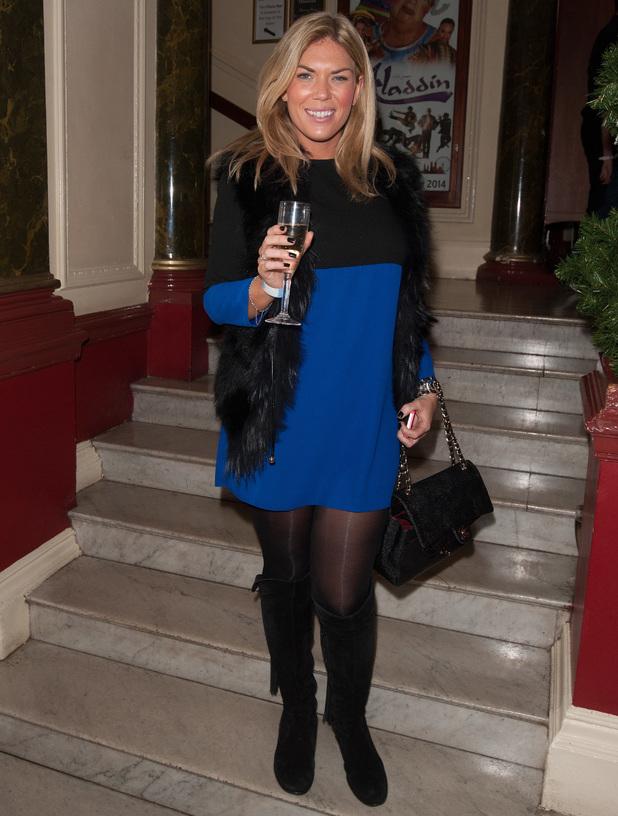 'Aladdin' celebrity press night held at the New Wimbledon Theatre - Frankie Essex 9.12.2013