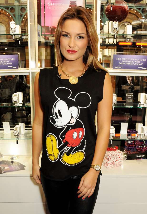 Sam Faiers at the Casio Sheen store in London's Covent Garden, December 2013 [publicity shot - one use only]