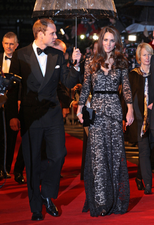 Kate Middleton and Prince William at the War Horse premiere in London - 8 January 2012