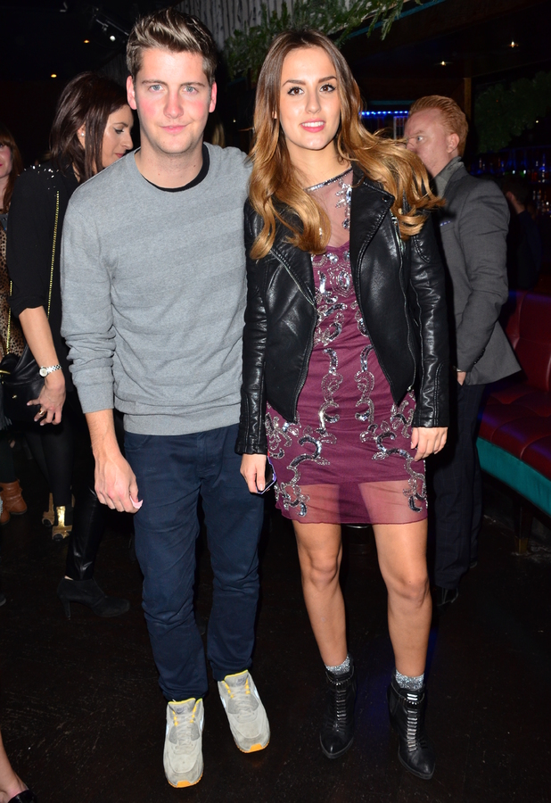Lucy Watson, Stevie Johnson at the Made In Chelsea fragrance launch party held at Raffles, London - 9 December 2013