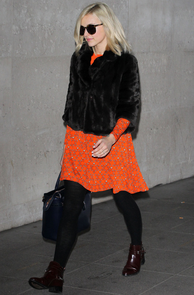 Fearne Cotton at BBC Radio 1 studios after announcing her engagement, London, Britain - 13 Dec 2013