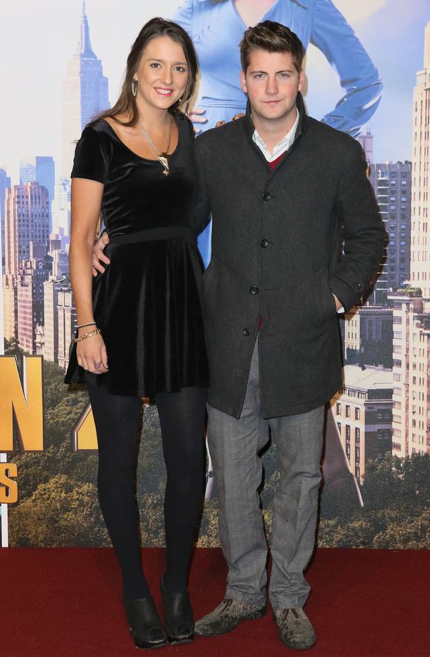 Anchorman 2: The Legend Continues' Film Premiere, London, Britain - 11 Dec 2013 Stevie Johnson and girlfriend Poppy Fisher 11 Dec 2013