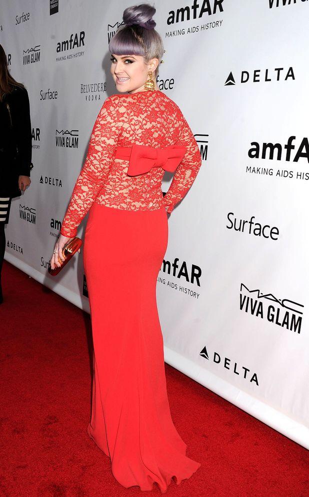 Kelly Osbourne at the amfAR Inspiration Gala, Los Angeles, America - 12 Dec 2013