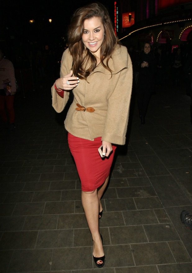 Imogen Thomas leaving Dirty Dancing at Piccadilly Theatre, London 11 December 2013