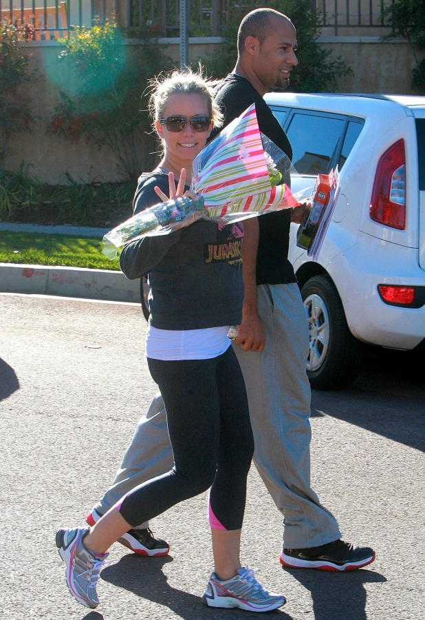 Kendra Wilkinson and Hank Baskett out and about, Calabasas, California, America - 11 Dec 2013