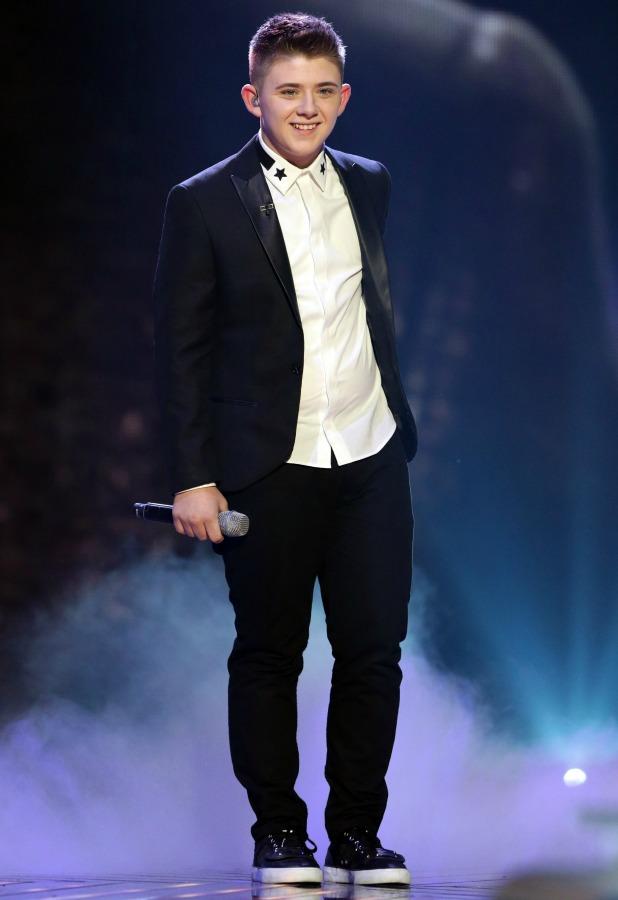 Nicholas McDonald on 'The X Factor' final TV show, Wembley Arena, London, Britain - 15 Dec 2013