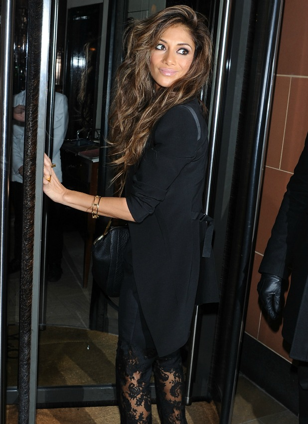 Nicole Scherzinger leaving C London Restaurant, 8 December 2013