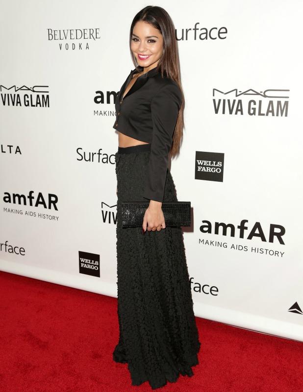 Vanessa Hudgens attends amfAR INSPIRATION GALA at Milk Studios, 12 December 2013
