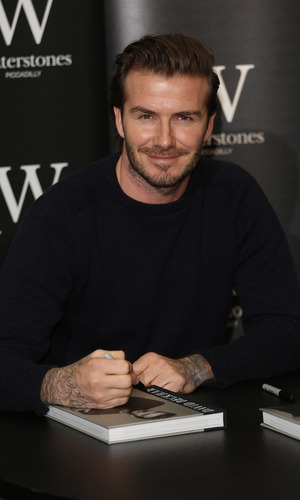 David Beckham signs copies of his new book entitled 'David Beckham' at Waterstones Piccadilly. (19 December 2013).