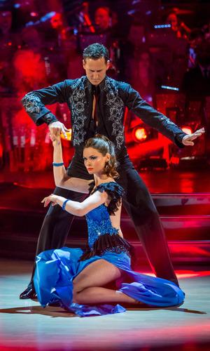 Sophie Ellis-Bextor and her professional dance partner Brendan Cole - Strictly Come Dancing (14 December 2013)