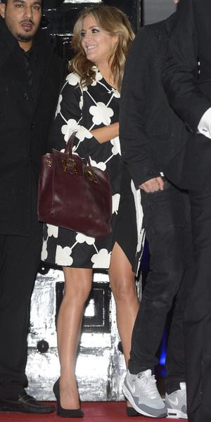 Caroline Flack arrives at official X Factor after party in London - 15 December 2013