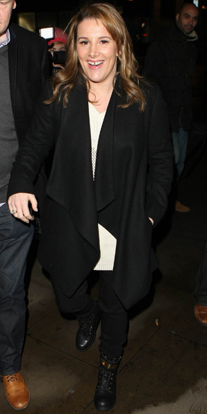 X factor' winner Sam Bailey leaving the BBC Radio 1 studios - 17 December 2013