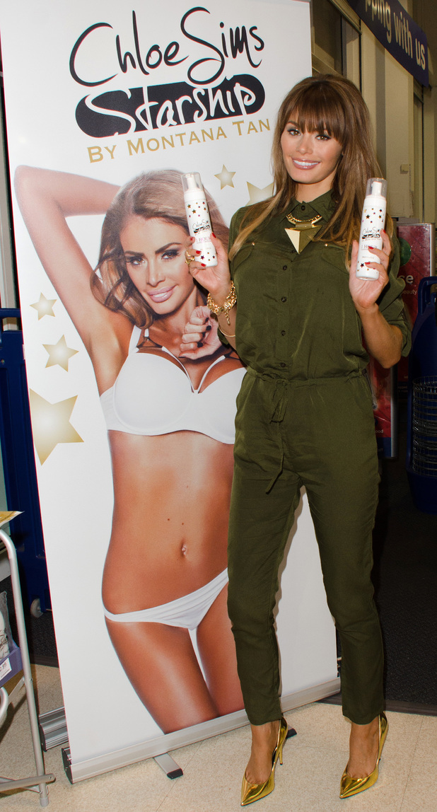 Chloe Sims launches Chloe Sims Starship Tanning in Boots, Brentwood, Essex - 14 December 2013