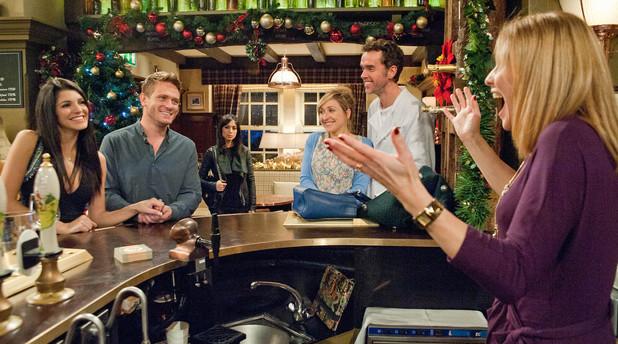 Emmerdale, Bernice announces Alicia and David's engagement, Tue 17 Dec