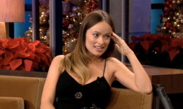Olivia Wilde on The Tonight Show with Jay Leno, 17 December 2013